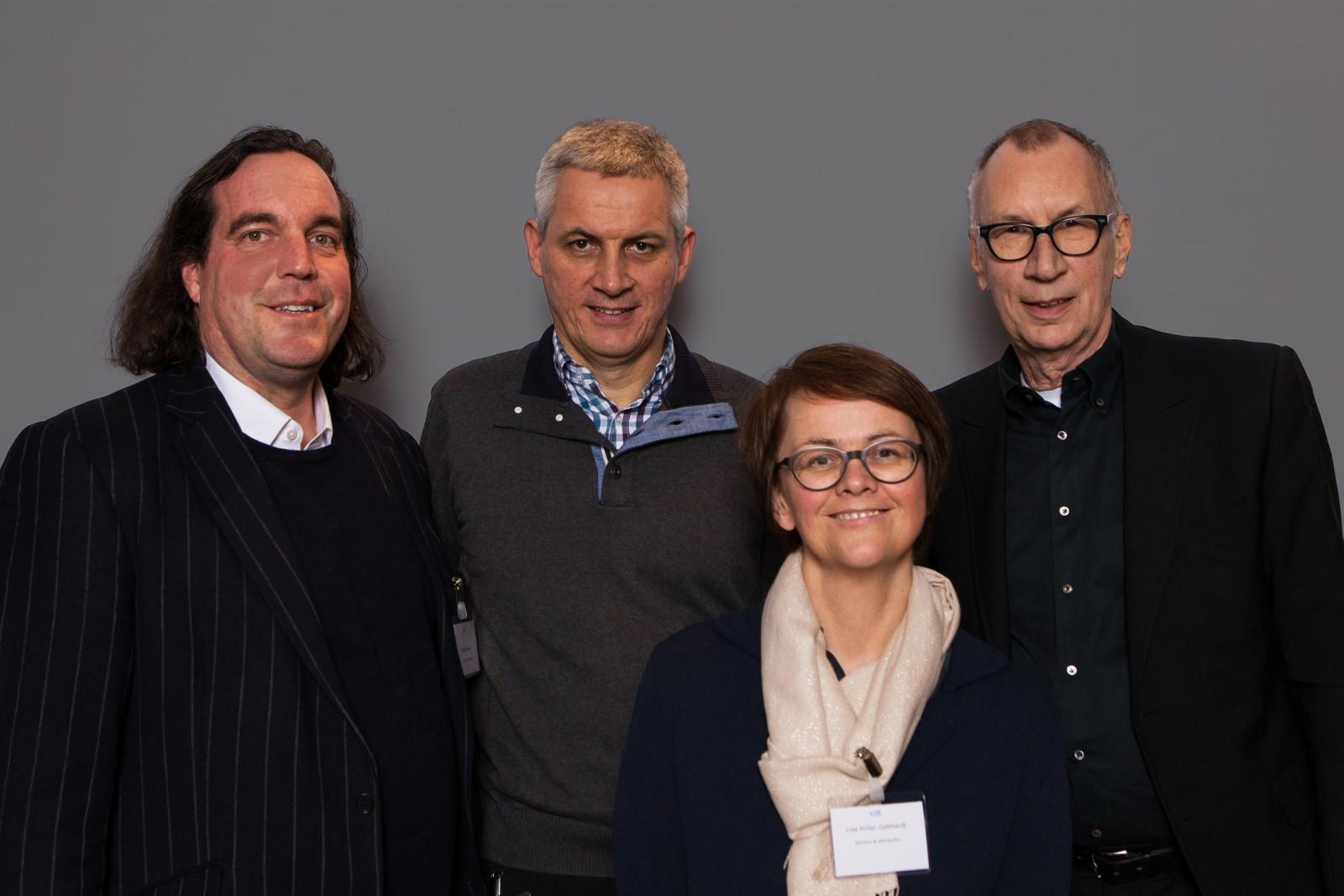Rupert Sommer, Pressebüro Sommer; Peter Turi, turi2; Lisa Priller-Gebhardt, w&v; Albrecht Hengstenberg, Hengstenberg Medienbeteiligung