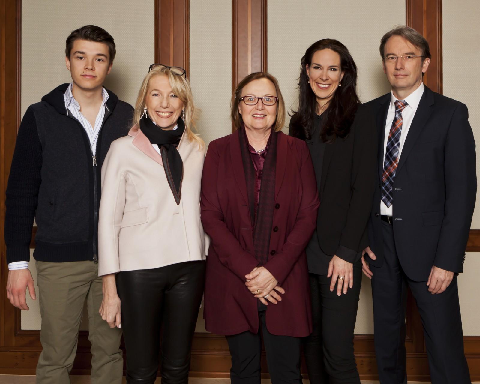 Philipp Riederle, Waltraut von Mengden, Helena Bommersheim, Anina Veigel und Martin Kunz