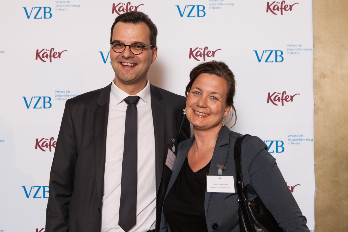 Dr. Klaus Driever, Allianz Deutschland AG, Angela Kesselring, SZ Publishing (Foto: Bettina Theisinger)
