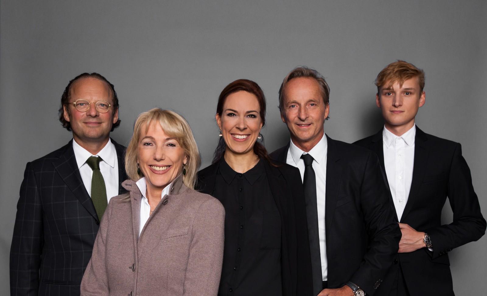 Moritz von Laffert, Waltraut von Mengden, Anina Veigel, Loek Oprinsen und Alexander Laible