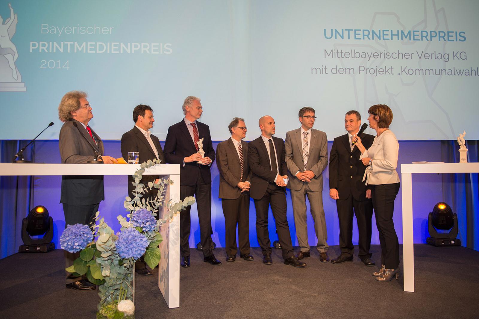 Printmedienpreis 2014 Foto: Michael Haggenmüller