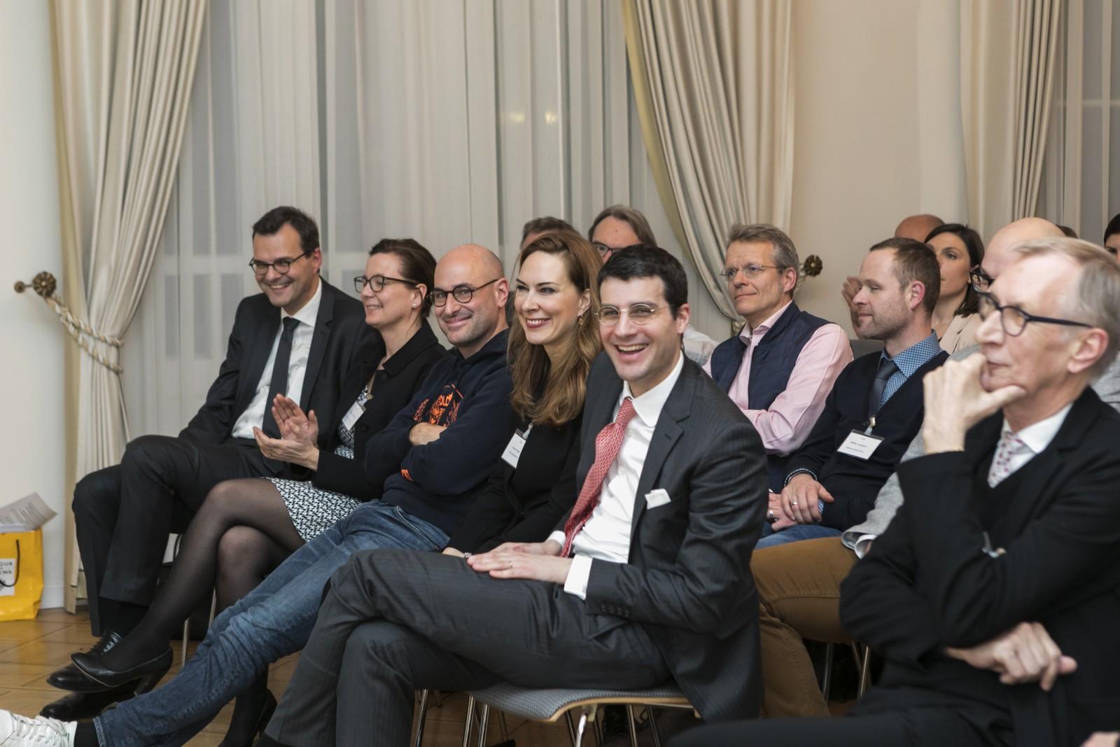 Dr. Klaus Driever, Allianz Deutschland; Angela Kesselring, SZ Scala; Dr. Dominik Wichmann, Looping Group; Anina Veigel, VZB; Dr. Marc Al-Hames, Cliqz