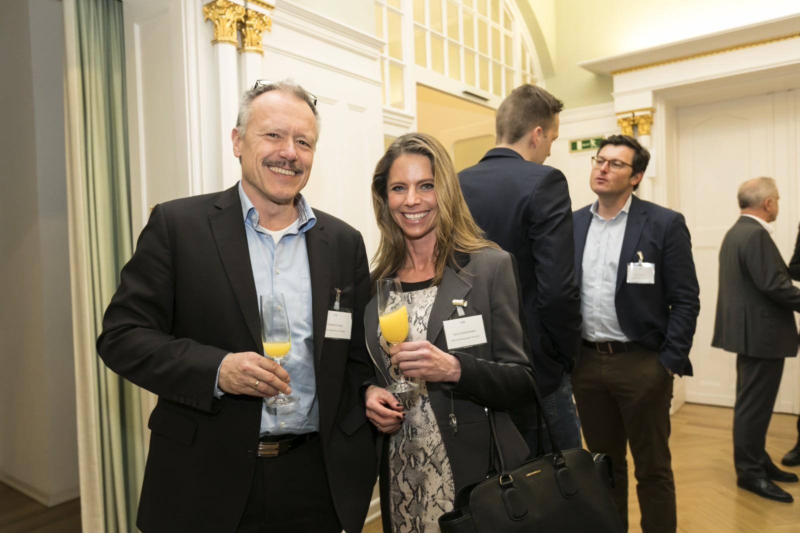 Friedrich Streng, InTime Media Services; Sylvia Schönfelder, WEKA Mediengruppe