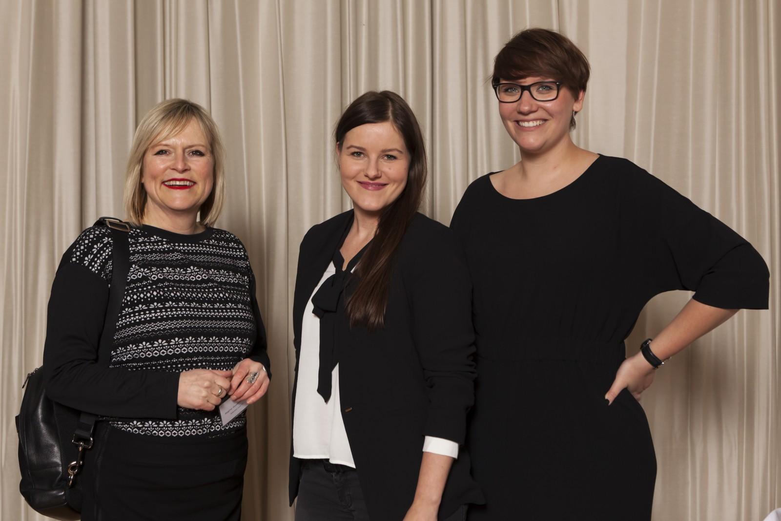 Regine Guckelsberger, München TV; Pia Landgrebe, Condé Nast Verlag; Annemarie Salewski, Condé Nast Verlag