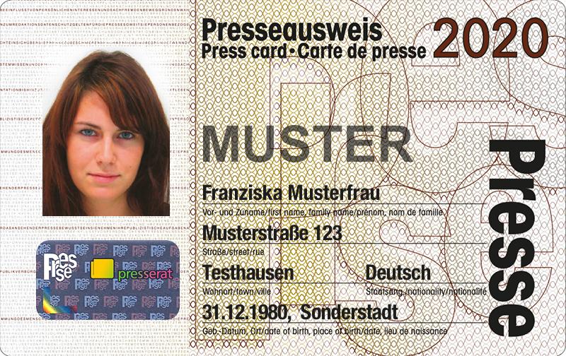 Presseausweis 2020
